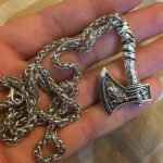 great viking axe pendant necklace