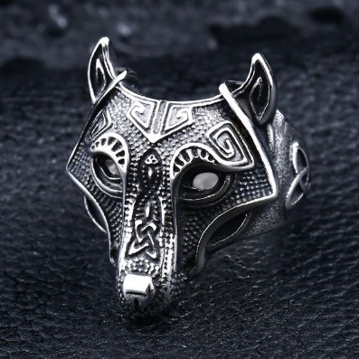 nordic wolf ring