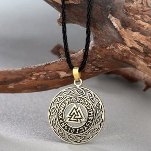 valknut pendant necklace