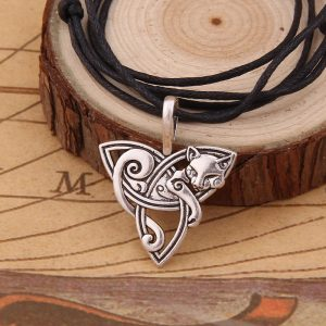 viking cat pendant