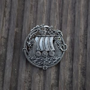 viking ship brooch