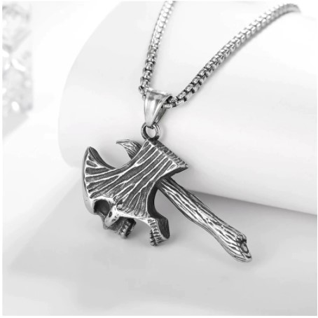 Ghost Axe Pendant Necklace