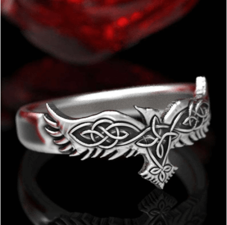 Raven Wing Odin Crow Rings