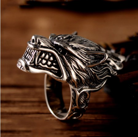 Rings for men fashion silver color ring northern totem amulet