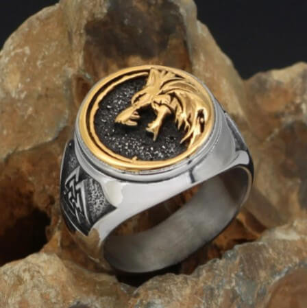 Northern Viking stainless steel rings with a gift package